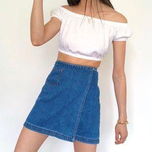 Vintage Skirts - Vintage 90s GAP Jean Skirt